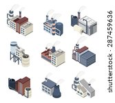 industrial buldings isometric... | Shutterstock .eps vector #287459636