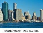 lower manhattan skyline view... | Shutterstock . vector #287462786
