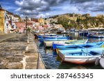 from the island of procida  bay ... | Shutterstock . vector #287465345