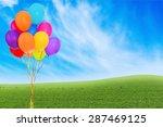 balloon  birthday  party. | Shutterstock . vector #287469125