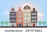 urban european houses in... | Shutterstock .eps vector #287473862