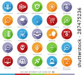 seo internet and development... | Shutterstock .eps vector #287475236