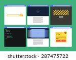 set of flat style browser... | Shutterstock .eps vector #287475722