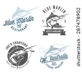 set of marlin fishing emblems ... | Shutterstock .eps vector #287478902