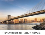 manhattan bridge and midtown... | Shutterstock . vector #287478938