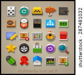 multimedia icon set. technology | Shutterstock .eps vector #287481032