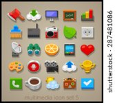 multimedia icon set. technology | Shutterstock .eps vector #287481086