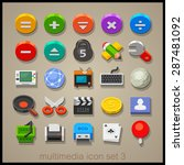 multimedia icon set. technology | Shutterstock .eps vector #287481092