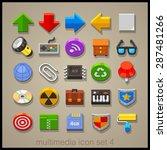 multimedia icon set. technology | Shutterstock .eps vector #287481266