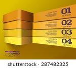 modern 3d yellow info graphics. ...