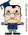 a cartoon teacher man looking... | Shutterstock .eps vector #287484185