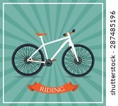 retro bicycle background vector ... | Shutterstock .eps vector #287485196