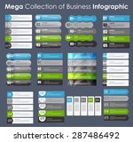 set of info graphic templates... | Shutterstock .eps vector #287486492