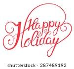elegant  vector lettering in... | Shutterstock .eps vector #287489192
