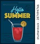 hello summer banner  card ...   Shutterstock .eps vector #287494766