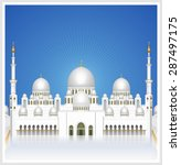 sheikh zayed grand mosque at... | Shutterstock .eps vector #287497175