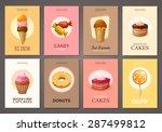 set of brochures with sweets.... | Shutterstock .eps vector #287499812