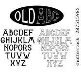 old alphabet for labels | Shutterstock .eps vector #287515982