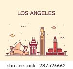 los angeles skyline  detailed... | Shutterstock .eps vector #287526662