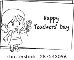 happy teacher's day | Shutterstock .eps vector #287543096