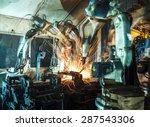 welding robots represent the... | Shutterstock . vector #287543306