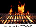 hot empty charcoal bbq grill... | Shutterstock . vector #287543495