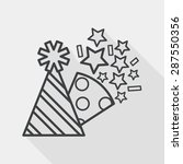 birthday party hat flat icon... | Shutterstock .eps vector #287550356