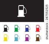 petrol station  petroleum... | Shutterstock .eps vector #287552525