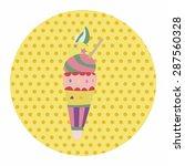 ice cream cartoon elements... | Shutterstock .eps vector #287560328