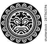 polynesian tattoo | Shutterstock .eps vector #287563196