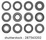 set of circle polynesian tattoo | Shutterstock .eps vector #287563202