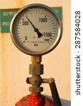 A Rusted Pressure Gauge For...