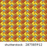 seamless abstract geometric... | Shutterstock .eps vector #287585912