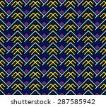 seamless abstract geometric... | Shutterstock .eps vector #287585942