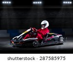 young girl karting racer at... | Shutterstock . vector #287585975