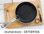 top view of kitchenware  empty... | Shutterstock . vector #287589506