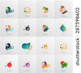 modern geometric design... | Shutterstock .eps vector #287598602