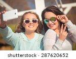 young beautiful girls taking...   Shutterstock . vector #287620652