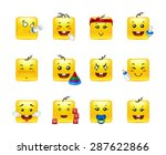 funny and beautiful square... | Shutterstock .eps vector #287622866