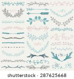 set of hand drawn color doodle... | Shutterstock .eps vector #287625668