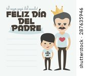 happy fathers day card. vector...   Shutterstock .eps vector #287635946