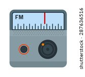 radio  fm  antenna icon vector...   Shutterstock .eps vector #287636516