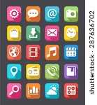 a collection of 20 technology... | Shutterstock .eps vector #287636702