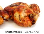 Close Up Rotisserie Chicken...