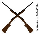 two crossed rifle vector