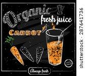 a glass of fresh carrot juice ...   Shutterstock .eps vector #287641736