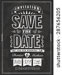 save the date invitation in... | Shutterstock .eps vector #287656205