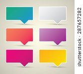 color vector paper speech... | Shutterstock .eps vector #287657282