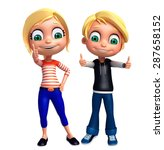 3d rendered illustration of kids | Shutterstock . vector #287658152
