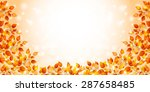 maple foliage background | Shutterstock .eps vector #287658485